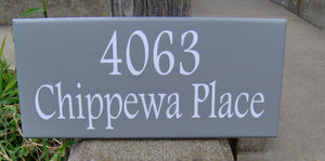 House Number Sign Street Address Sign Wood Vinyl Sign Street Signs Outdoor Decor Wood Plaque Personalized Porch Sign Yard Art Business Sign - Heartfelt Giver
