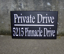 Load image into Gallery viewer, House Number Plaque Wood Vinyl Signs Private Drive House Number Sign Street Address Street Name Sign Outdoor House Signs Privacy Sign Yard