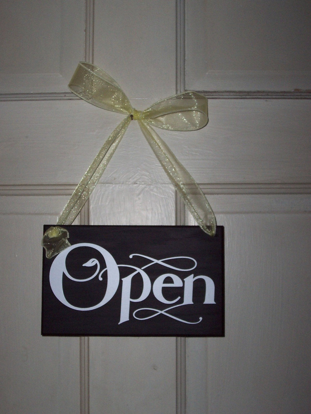 Open Closed Sign Wood Vinyl Sign Two Side Sign Salon Sign Spa Sign Massage Sign Therapy Sign Treatment Sign Office Supplies Business Sign