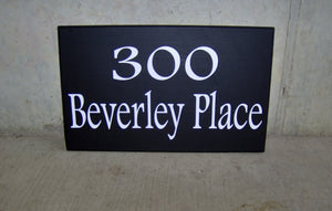 House Plaque Street Address Wood Vinyl Signs Private Drive Outdoor House Decor Yard Art Home Number Custom Porch Sign Directional Signage