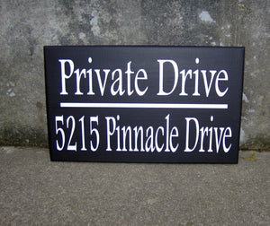 House Number Plaque Wood Vinyl Signs Private Drive House Number Sign Street Address Street Name Sign Outdoor House Signs Privacy Sign Yard