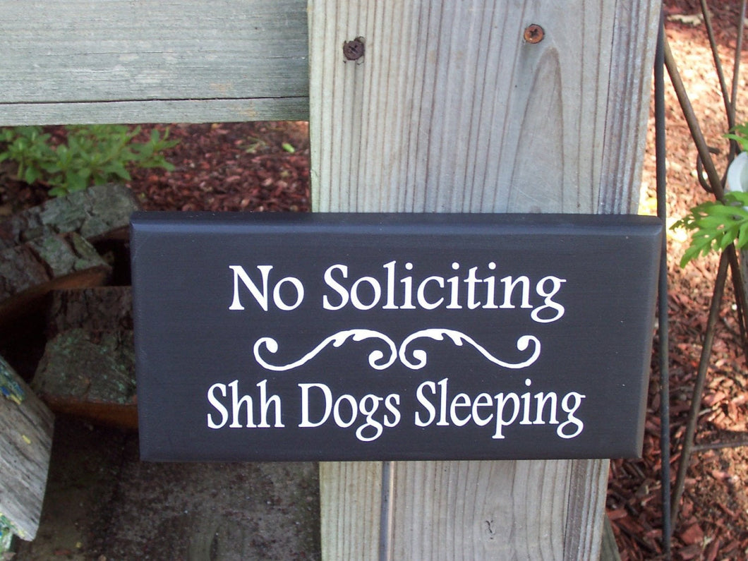 No Soliciting Shh Dogs Sleeping Wood Vinyl Stake Sign Pet Love Signs For Outdoors  Front Entry Lawn Ornament Yard Sign Art Garden Plaque - Heartfelt Giver