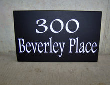 Load image into Gallery viewer, House Plaque Street Address Wood Vinyl Signs Private Drive Outdoor House Decor Yard Art Home Number Custom Porch Sign Directional Signage