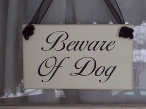 Beware of Dog Wood Vinyl Sign Pet Supplies For Home Decor Outdoor Garden Gate Fence Sign Porch Signs Farmhouse Dogs Security Door Hanger Art