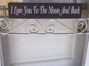 Love You Moon And Back Wood Vinyl Sign Indoor Outdoor Wall Decor Tabletop Signs For Home Decoration Personalized Gifts Quotes On Signs Art