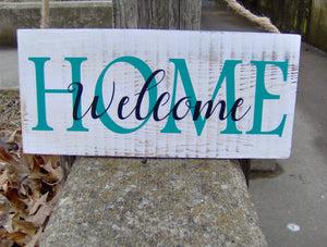 Welcome Home Wood Vinyl Sign Spring Summer Front Door Decor Farmhouse Distressed Rustic Design Porch Sign Outdoor Signs For Home Business - Heartfelt Giver