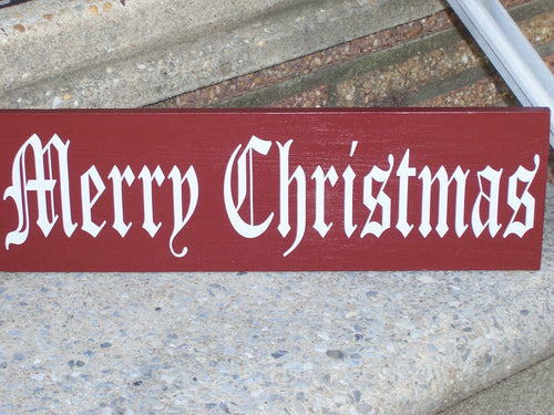 Merry Christmas Wood Vinyl Old Fashion Signs Rustic Red Decor Holiday Decor  Seasons Greetings Wall Plaque Wall Sign Family Porch Decor
