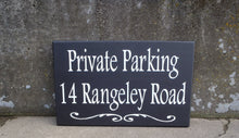 Load image into Gallery viewer, House Number Plaque Wood Vinyl Signs Private Parking House Number Sign Street Address Street Name Sign Outdoor House Signs Privacy Sign Yard
