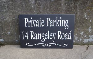 House Number Plaque Wood Vinyl Signs Private Parking House Number Sign Street Address Street Name Sign Outdoor House Signs Privacy Sign Yard
