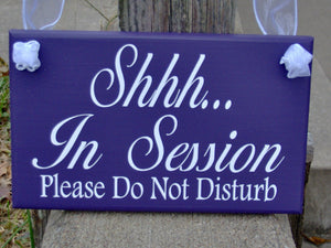In Session Please Do Not Disturb Wood Vinyl Office Business Sign Waiting Room Quiet Please Decor Door Decor Or Wall Decor Polite Sign Notice - Heartfelt Giver