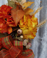 Load image into Gallery viewer, Fall Swag Wreath For Front Door Hanger Fall Flower Arrangement