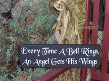 Load image into Gallery viewer, Christmas Signs Every Time Bell Rings Angel Gets His Wings Holiday Wooden Signage Vinyl Sign Wall Hanging Gifts Home Decorations Ornaments