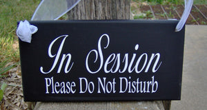 In Session Door Sign Please Do Not Disturb Wood Vinyl Business Sign Office Supply For Therapists Salons Businesses Decor Custom Signage Art