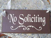 Load image into Gallery viewer, No Soliciting Sign Wood Vinyl Sign Exterior Door Hanger Sign For Privacy Do Not Disturb Porch Wall Decor Gift For Her Him Or Wreath Accent - Heartfelt Giver