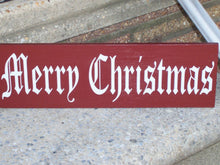 Load image into Gallery viewer, Merry Christmas Wood Vinyl Sign Old Fashion Signs Rustic Red Decor Holiday Decor  Seasons Greetings Wall Plaque Wall Sign Family Porch Decor