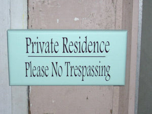 Private Residence Please No Trespassing Wooden Signs Vinyl Sign Seafoam Beach Cottage Wall Hangings Door Hanger Home Decor Sign Porch Sign