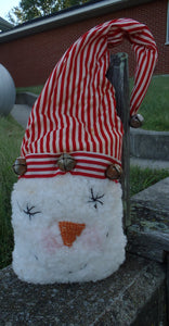 Snowman Primitive Plush With Rusty Bells Rustic Wreath Decor Centerpiece Decor Door Swag Attachment Christmas Crafts Supplies Embellishment