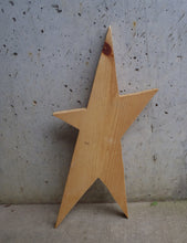 Load image into Gallery viewer, Star Unfinished Wood Shape Cutouts Primitive Wood Star Rustic Farmhouse Decor Blank Wood Sign Decor Craft Supplies Home Wooden Door Plaque