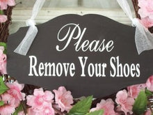 Load image into Gallery viewer, Remove Shoes Please Wood  Vinyl Sign Entrance Front Porch Door Sign Take Off Shoes Sign Quote No Shoes Sign Shoe Free House Sign Home Sign - Heartfelt Giver
