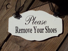 Load image into Gallery viewer, Remove Shoes Please Wood  Vinyl Sign Entrance Front Porch Door Sign Take Off Shoes Sign Quote No Shoes Sign Shoe Free House Sign Home Sign