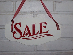 Sale Signs Wood Vinyl Signage Retail Signs For Boutiques And Businesses To Display In Windows Doors or Inside Store Shops To Showcase Items