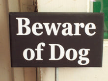 Load image into Gallery viewer, Beware of Dog Wood Vinyl Rod Stake All Season Yard Stake Garden Outdoor Home Decor Art Guard Security Warning Sign Caution Sign Pet Supplies
