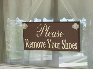 Remove Shoes Door Signs Wooden Vinyl Sign Take Off Shoes Front Porch Sign Entryway Display Signs Exterior or Interior Home or Business Decor