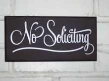 Load image into Gallery viewer, No Soliciting Retro Decor Wood Vinyl Solicitors Sign Home Decor Signs Outdoor Garden Decor Yard Sign Door Wall Sign Porch Sign Entrance Sign - Heartfelt Giver