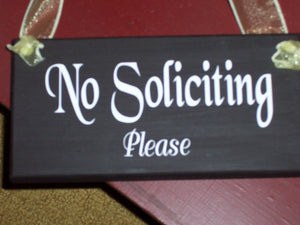 No Soliciting Please Wood Vinyl Sign Outdoor Decor Front Porch Wall Hanging Wooden Signs Custom Doorway New Home Gift Home Decor Signage Art
