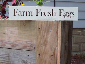 Farm Fresh Eggs Sign Wood Vinyl Farmhouse Farm Barn Cottage Wall Plaque Chicken Rooster Coop Roost Garden Yard Decor Home Business Supplies - Heartfelt Giver
