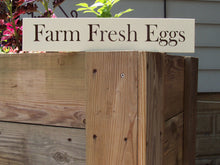 Load image into Gallery viewer, Farm Fresh Eggs Sign Wood Vinyl Farmhouse Farm Barn Cottage Wall Plaque Chicken Rooster Coop Roost Garden Yard Decor Home Business Supplies - Heartfelt Giver
