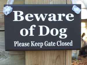 Beware Dog Sign Please Keep Gate Closed Wood Vinyl Sign Outdoor Signs Gate Sign Yard Signs Pet Signs Personalized Signs For Home Decor Farm