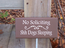 Load image into Gallery viewer, No Soliciting Shh Dogs Sleeping Wood Vinyl Stake Sign Pet Supply Outdoor Lawn Ornament Yard Garden Sign Landscape Home Decor Country Chic