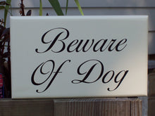 Load image into Gallery viewer, Beware of Dog Wood Vinyl Sign Pet Supplies For Home Decor Outdoor Garden Gate Fence Sign Porch Signs Farmhouse Dogs Security Door Hanger Art