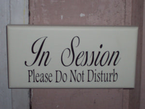 In Session Please Do Not Disturb Wood Sign Vinyl Office Supplies Business Sign Spa Beauty Salon Decor Massage Therapy Door Hanger Decoration - Heartfelt Giver