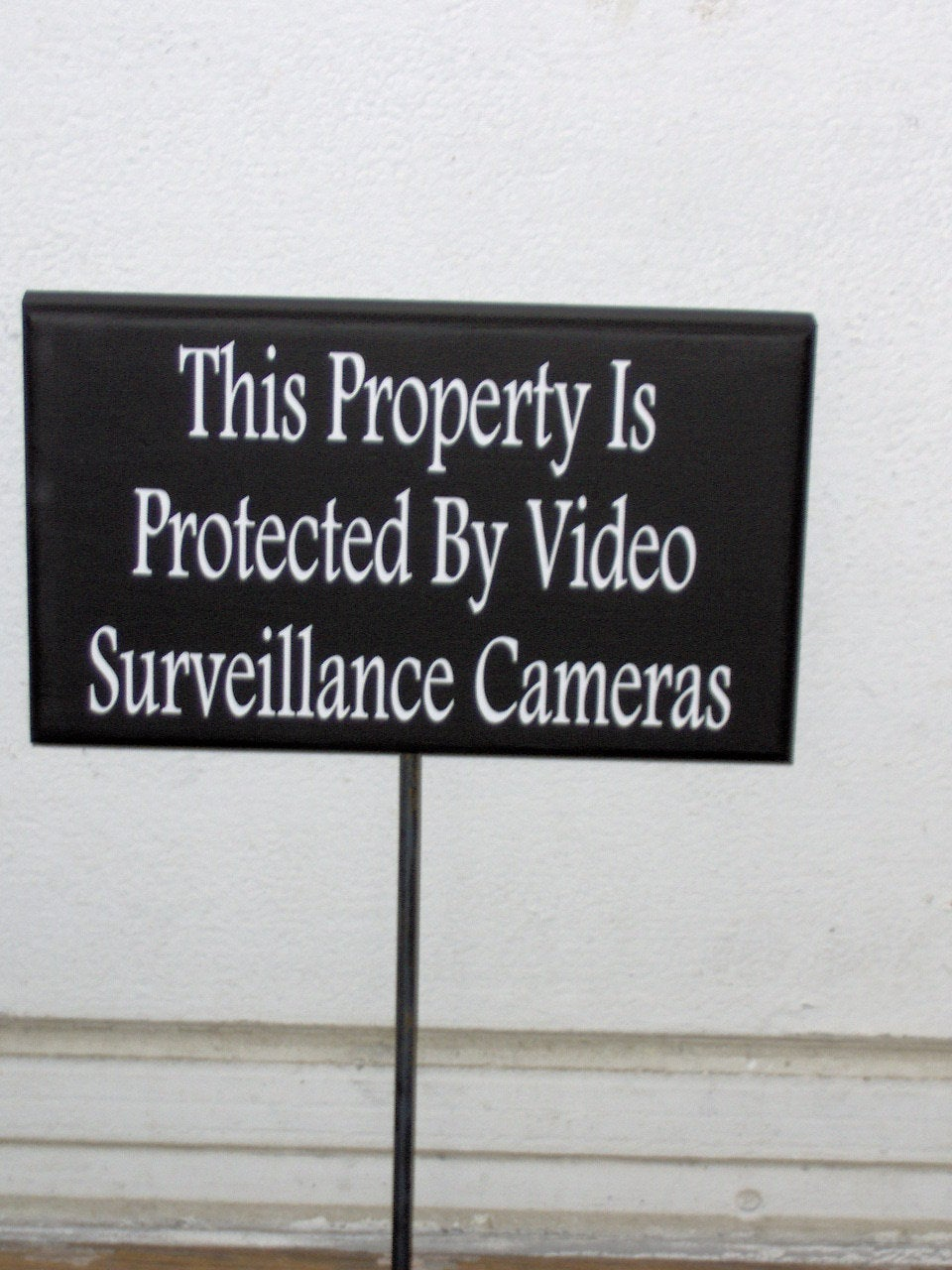 Property Protected Video Surveillance Cameras Wood Vinyl Stake Sign Warning Security Do Not Disturb Outdoor Signs Garden Yard Art Porch Sign