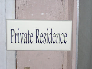 Private Residence Wood Sign Vinyl Door Hanger Outdoor Warning Sign Private Sign Entrance Sign House Sign Home Living Decor Wall Decor Sign