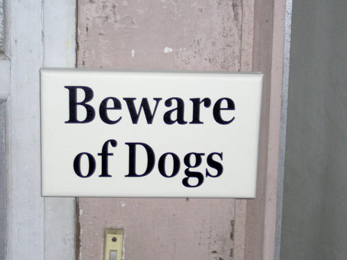 Beware of Dogs Wooden Signs Vinyl Sign Dog Lover Sign Dog Gift Front Door Sign Garage Sign Yard Sign Porch Sign Wall Hanging Wall Decor Art