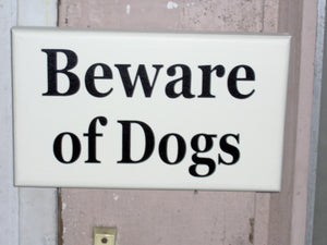 Beware of Dogs Wooden Signs Vinyl Sign Dog Lover Sign Dog Gift Front Door Sign Garage Sign Yard Sign Porch Sign Wall Hanging Wall Decor Art - Heartfelt Giver