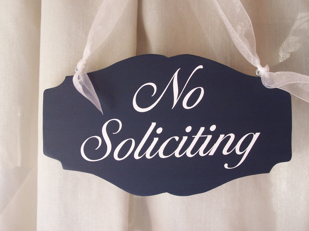 No Soliciting Wood Vinyl Signs Door Hanger No Strangers Office Supply Business Signs Home Decor Signs Housewarming Gift House Sign Custom