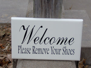 Welcome Sign Please Remove Shoes Wood Vinyl Sign Wooden Wall Art Decor Home Classic Design Plaque Entryway Take Off Shoes Gift For All Art