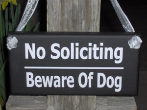 No Soliciting Sign Beware Of Dog Sign Wood Vinyl Sign Gate Sign Fence Sign Garden Sign Door Hanger Private Sign Home Sign No Solicitation - Heartfelt Giver