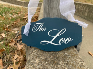 the loo sign