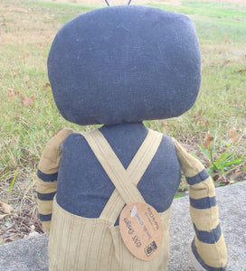 Bumble Bee Doll Primitive Country Farmhouse Collectible Cloth Fabric