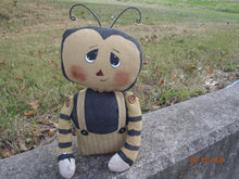 Load image into Gallery viewer, Bumble Bee Doll Primitive Country Farmhouse Collectible Cloth Fabric