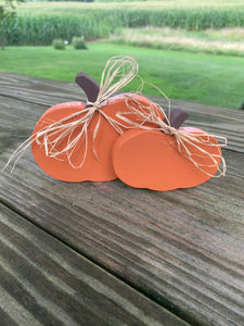 Purple Painted Pumpkins Fall Home Decor - Heartfelt Giver