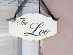 the loo wooden sign