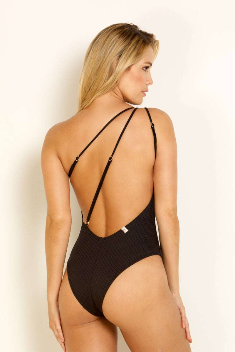 Black Diamond Texture One Piece