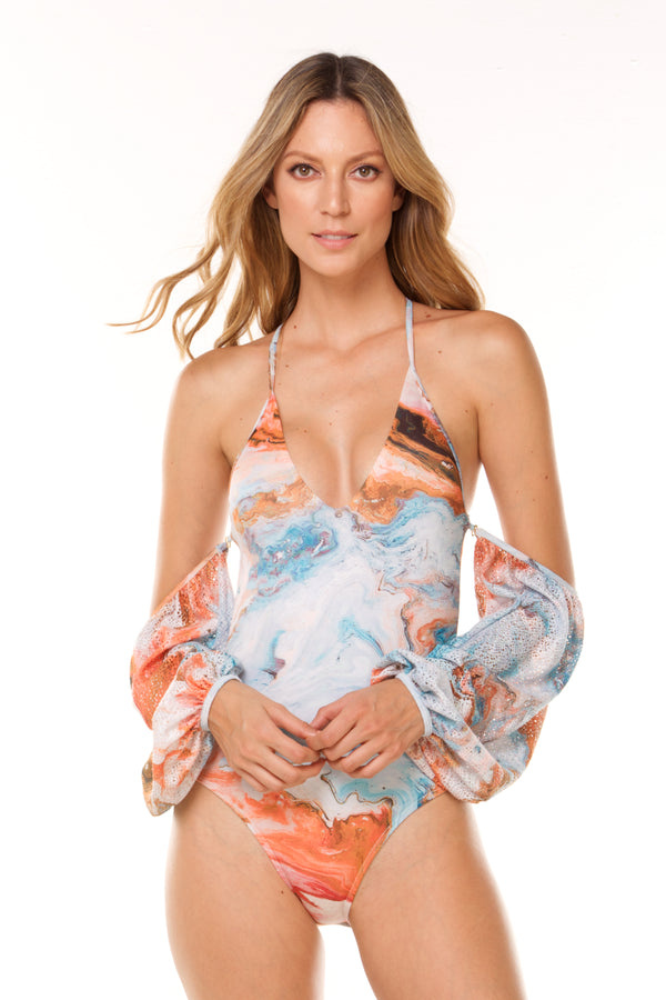Sand Calma One Piece with Sleeves