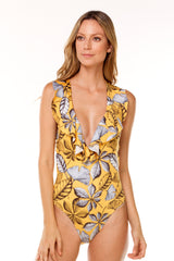 Yellow Print One Piece